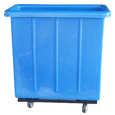 3009 Plastic Flat-Sided Bulk Carts