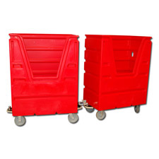 7001 with Hitch Plastic Custom Bulk Linen Carts
