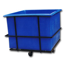 3020 Plastic Flat-Sided Bulk Carts