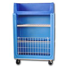 7002BH Plastic Linen Exchange Carts
