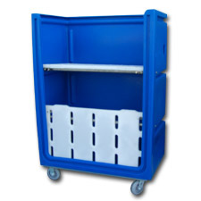7002-2 Plastic Linen Exchange Carts