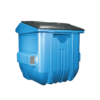 Plastic front load recycling container