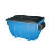 Plastic front load recycling containers
