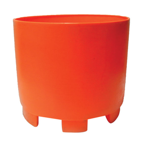 Spill containment with forklift basin.