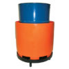 Spill containment with rolling dolly.