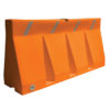 Plastic traffic barrier orange