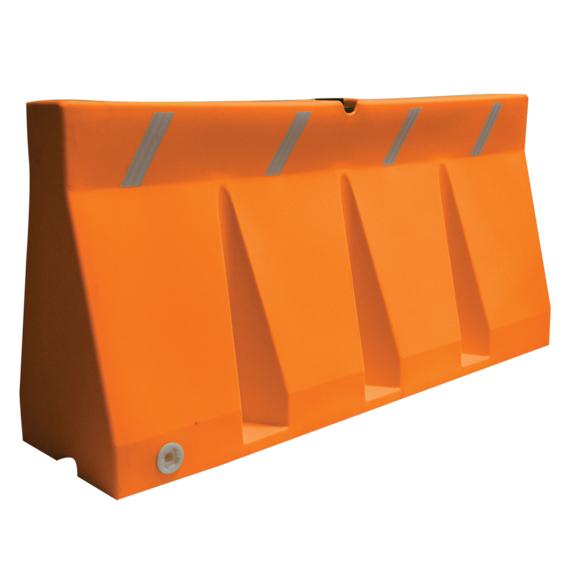 Plastic traffic barrier orange