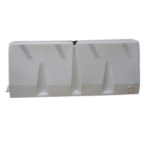 Plastic traffic barrier white