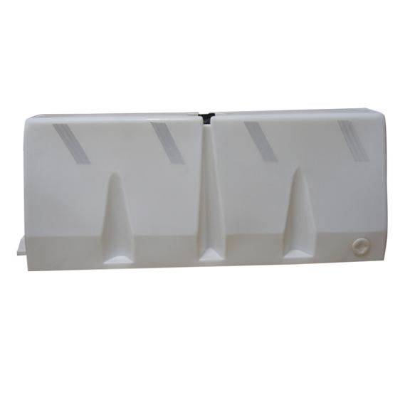 Plastic traffic barrier white